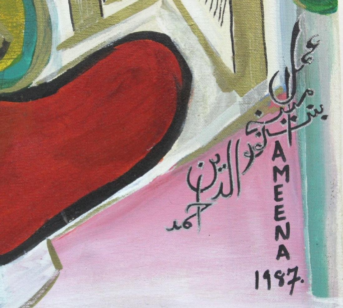 Ameena Ahmad Ahuja Signed Painting from BASS MUSEUM - 4