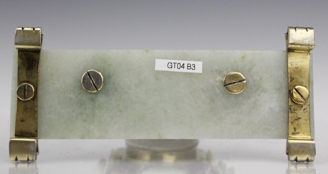 Edward Farmer Silver-gilt Jade Chinoiserie Clock - 10