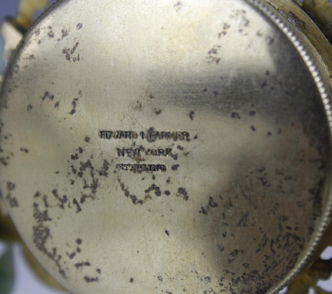 Edward Farmer Silver-gilt Jade Chinoiserie Clock - 8