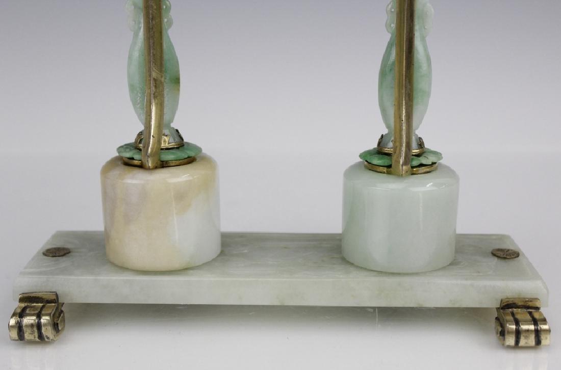 Edward Farmer Silver-gilt Jade Chinoiserie Clock - 9