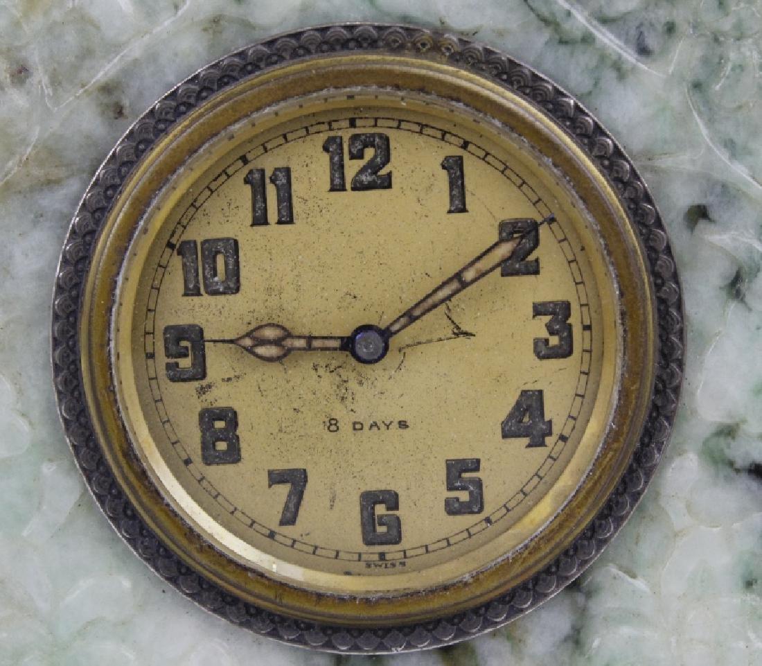 Yamanaka Jade And Coral Oriental Mantle Clock - 2