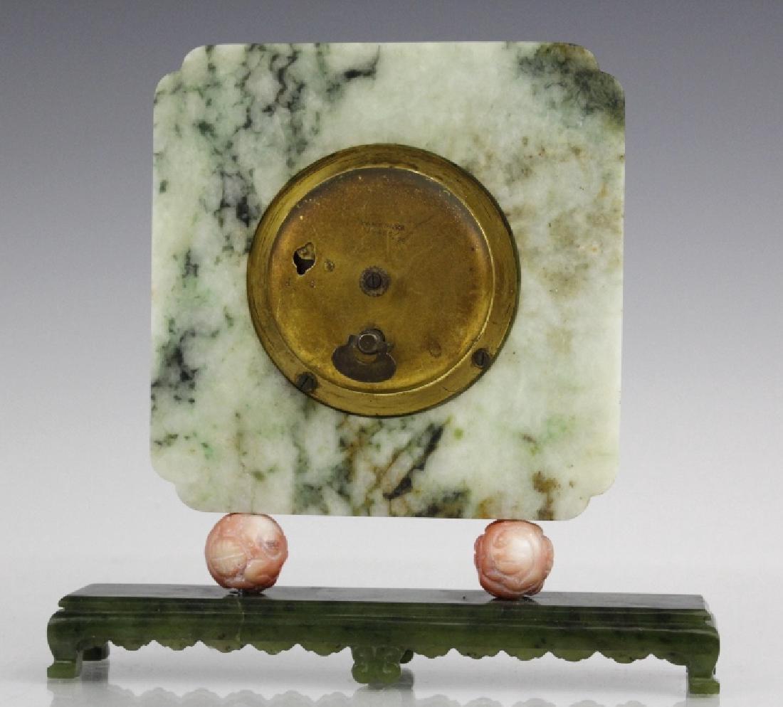 Yamanaka Jade And Coral Oriental Mantle Clock - 5