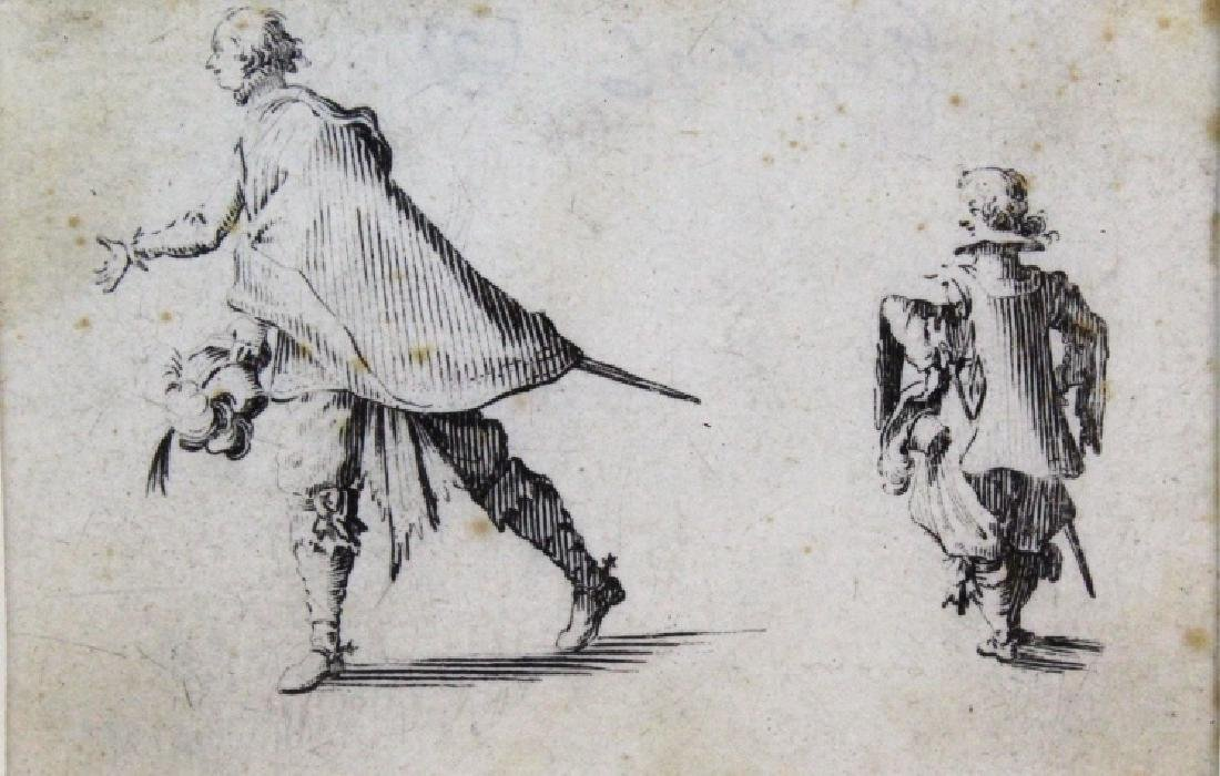 Jacques Callot 17th Century Nobleman & Page BASS MUSEUM
