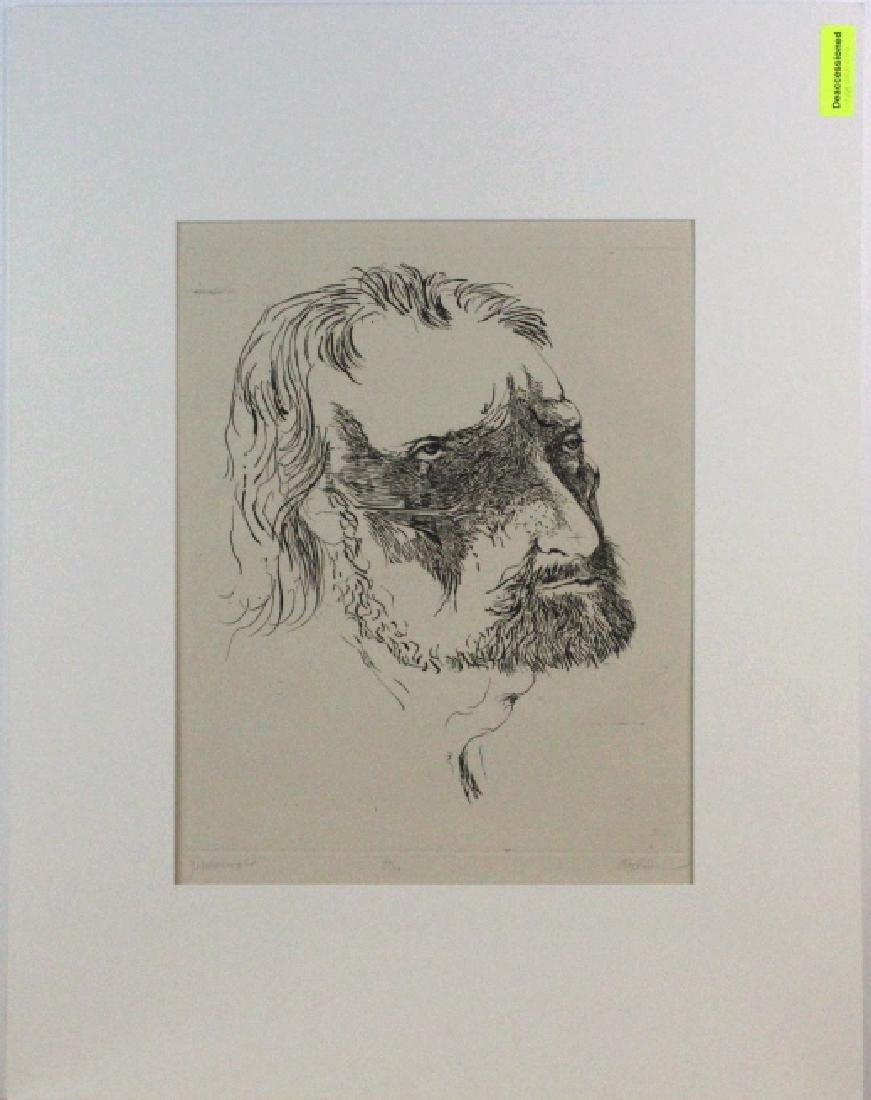 Leonard Baskin Etching Matthais Gruenewald BASS MUSEUM - 2