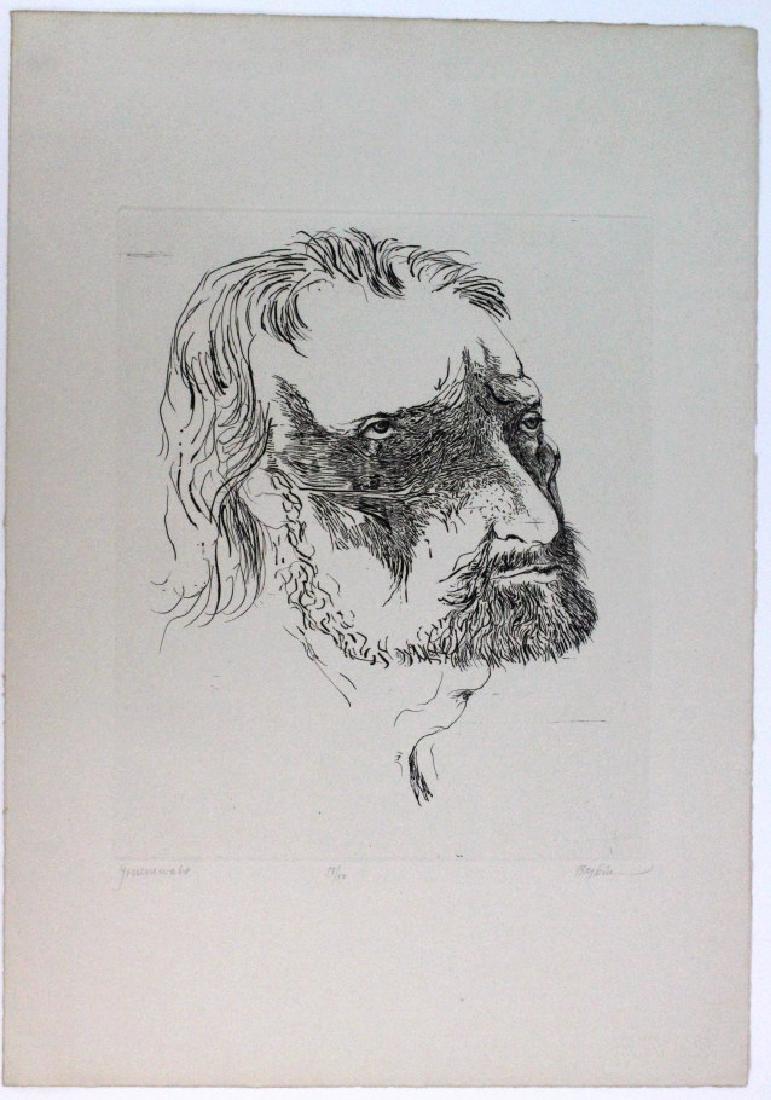 Leonard Baskin Etching Matthais Gruenewald BASS MUSEUM - 6
