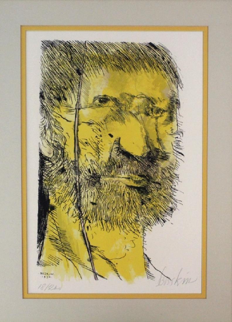 Leonard Baskin Signed Etching Captain Ahab BASS MUSEUM - 2