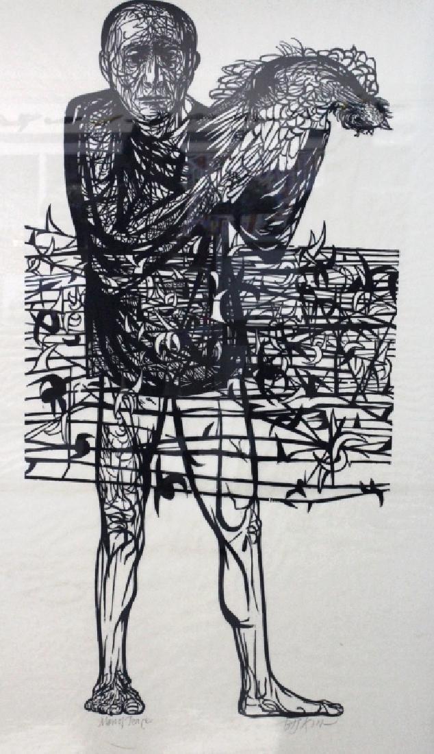 Leonard Baskin Man of Peace Woodcut from BASS MUSEUM - 2