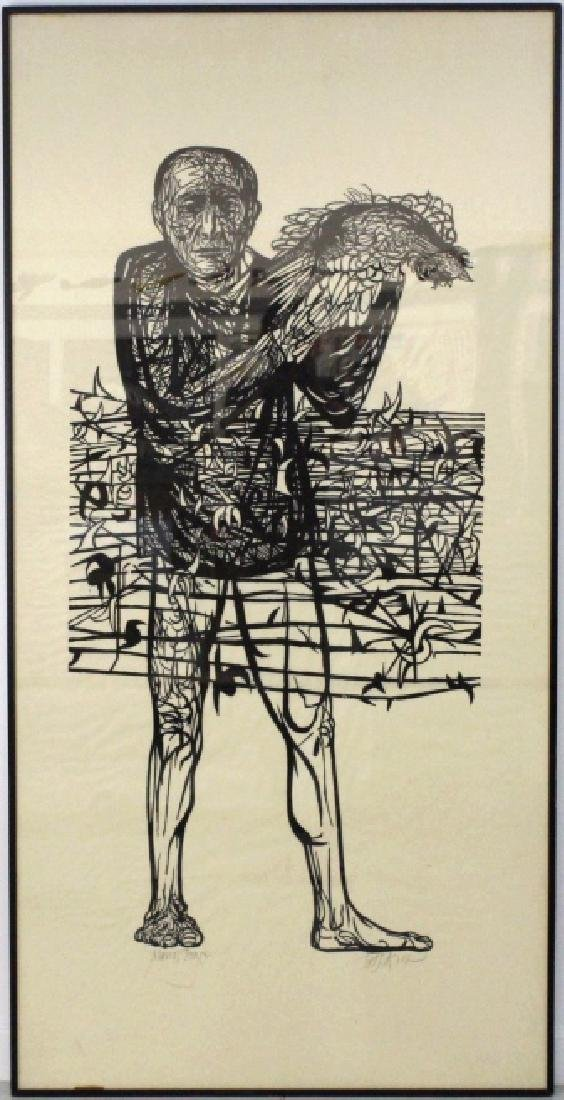 Leonard Baskin Man of Peace Woodcut from BASS MUSEUM - 3