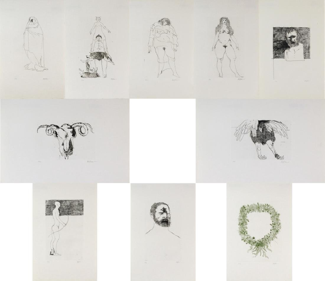 Leonard Baskin Portfolio Ten Etching from BASS MUSEUM