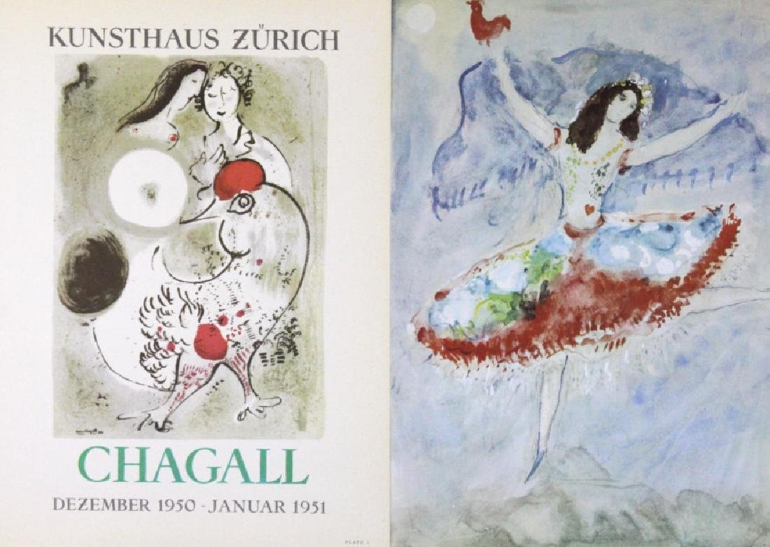 9 Marc Chagall Bookplate Color Lithographic Prints - 3