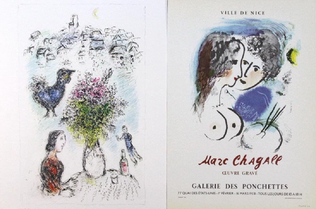 9 Marc Chagall Bookplate Color Lithographic Prints - 4