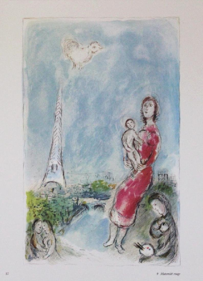 9 Marc Chagall Bookplate Color Lithographic Prints - 5