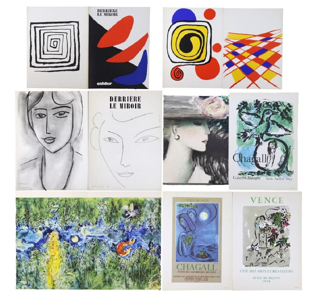 10 Calder Matisse Chagall Color Litho Bookplates
