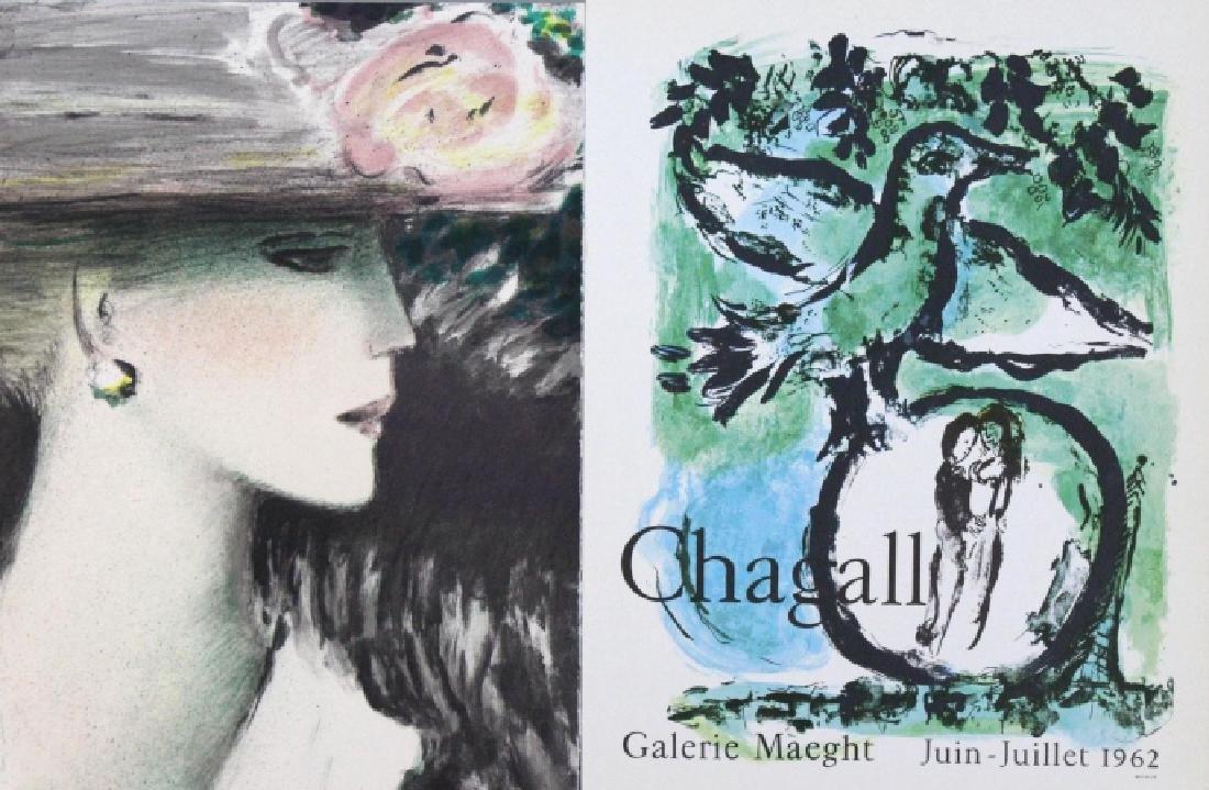 10 Calder Matisse Chagall Color Litho Bookplates - 2