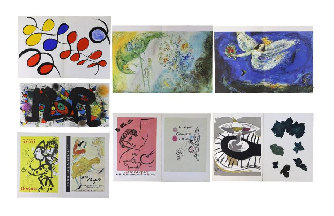 Chagall Miro Calder Color Lithographic Bookplates