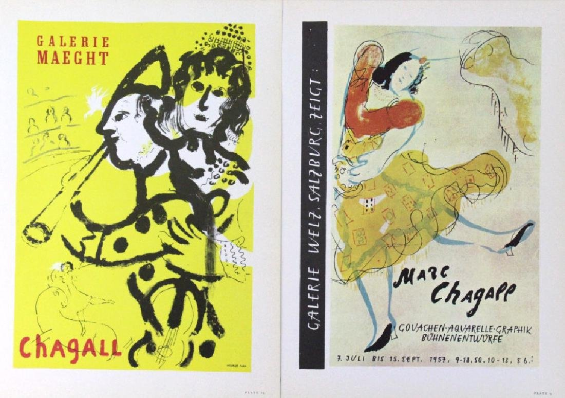 Chagall Miro Calder Color Lithographic Bookplates - 4