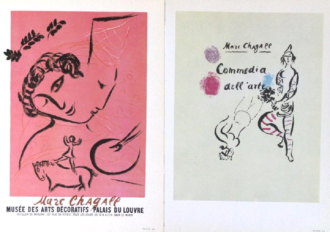 Chagall Miro Calder Color Lithographic Bookplates - 5