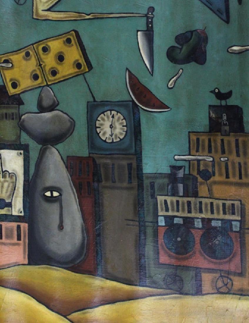 "Leone Matheu Mixed Media Painting 70"" x 55"" BASS MUSEUM - 2"