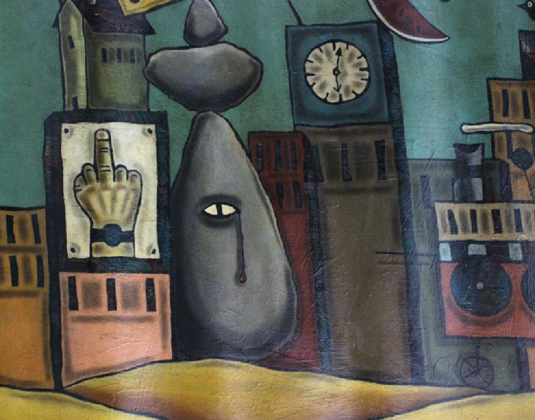 "Leone Matheu Mixed Media Painting 70"" x 55"" BASS MUSEUM - 4"