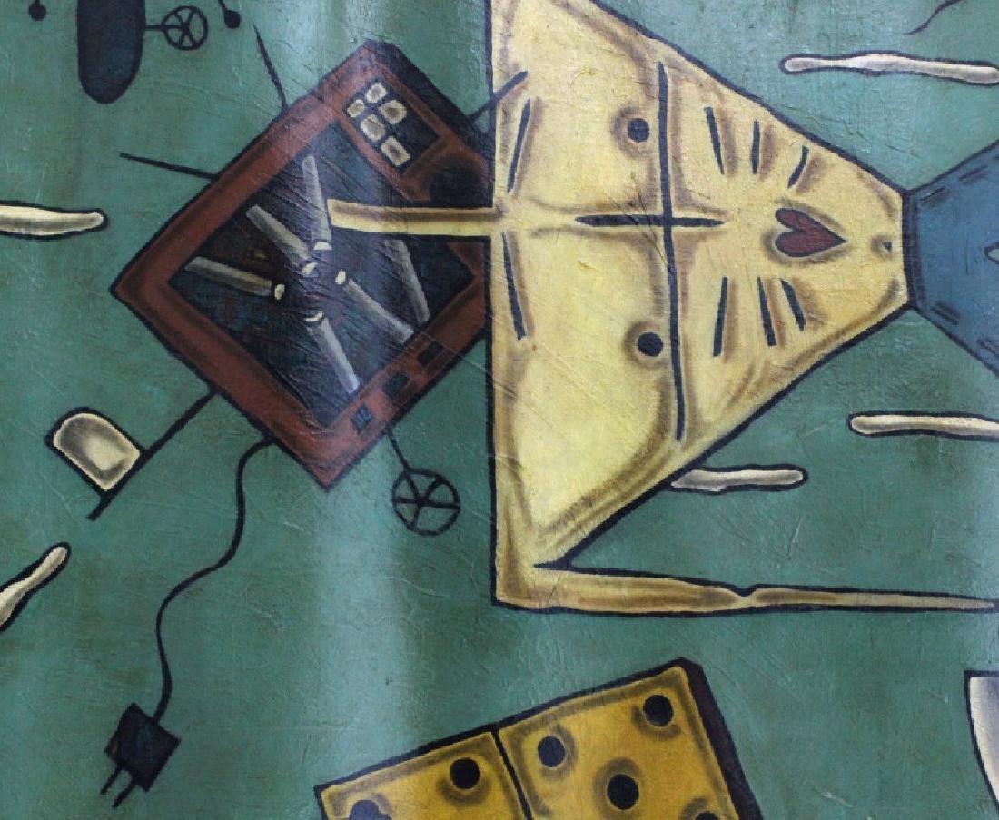 "Leone Matheu Mixed Media Painting 70"" x 55"" BASS MUSEUM - 5"