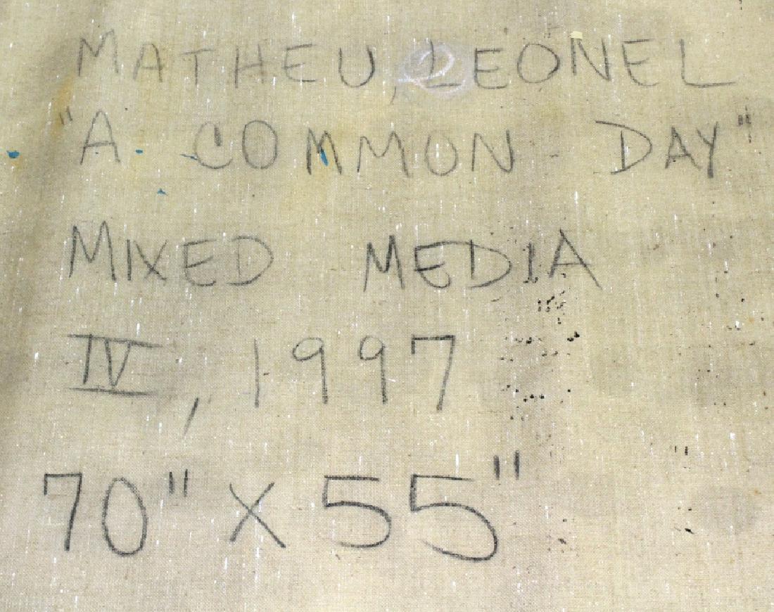 "Leone Matheu Mixed Media Painting 70"" x 55"" BASS MUSEUM - 6"