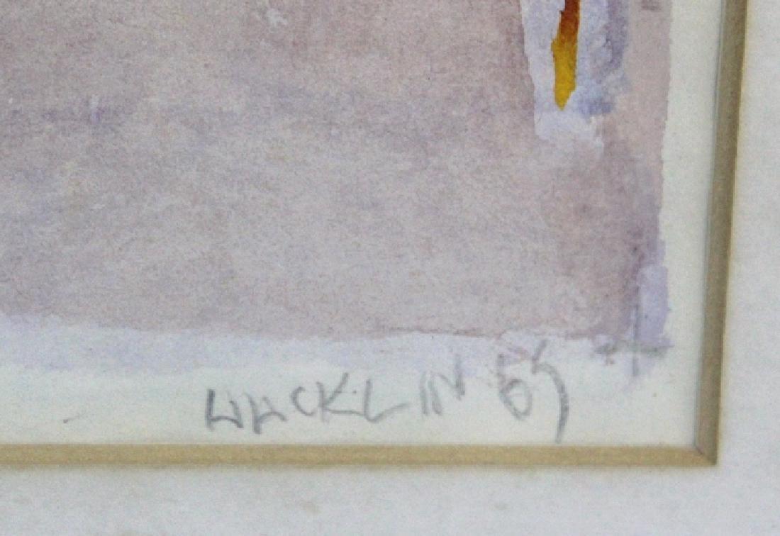 Allan Dave Hacklin Signed Watercolor BASS MUSEUM - 3