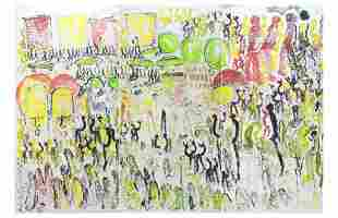 """Purvis Young Outsider Art 144"""" x 96"""" BASS MUSEUM"""