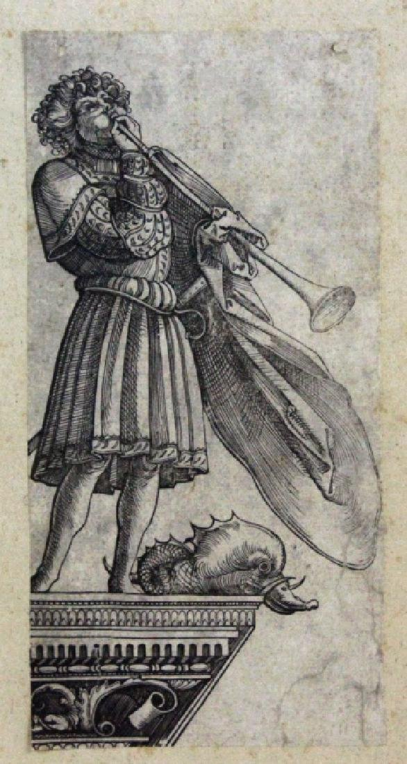 Albrecht Durer Trumpeting Angel Etching BASS MUSEUM