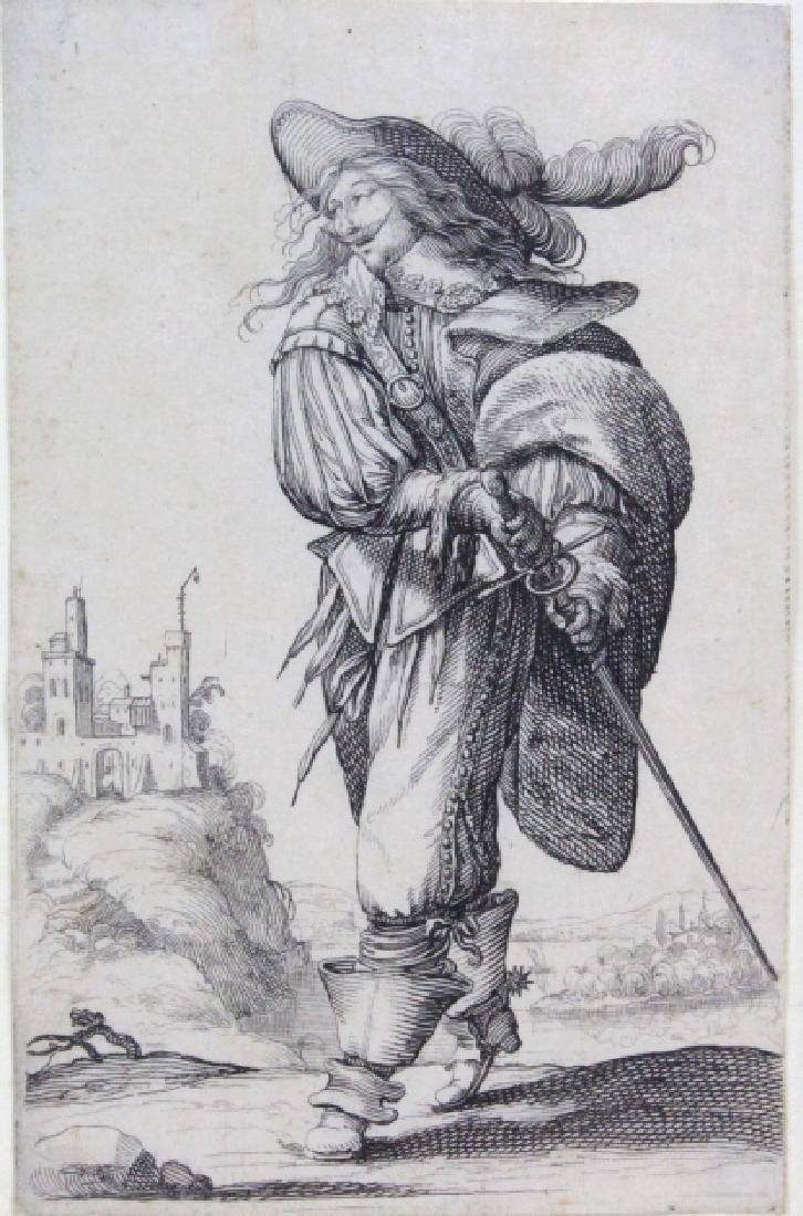 Abraham Bosse Swordsman Etching from BASS MUSEUM