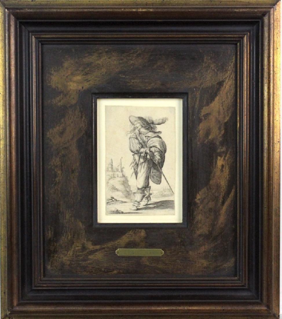 Abraham Bosse Swordsman Etching from BASS MUSEUM - 2