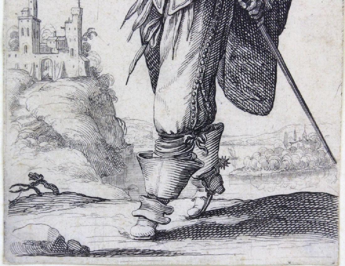 Abraham Bosse Swordsman Etching from BASS MUSEUM - 3