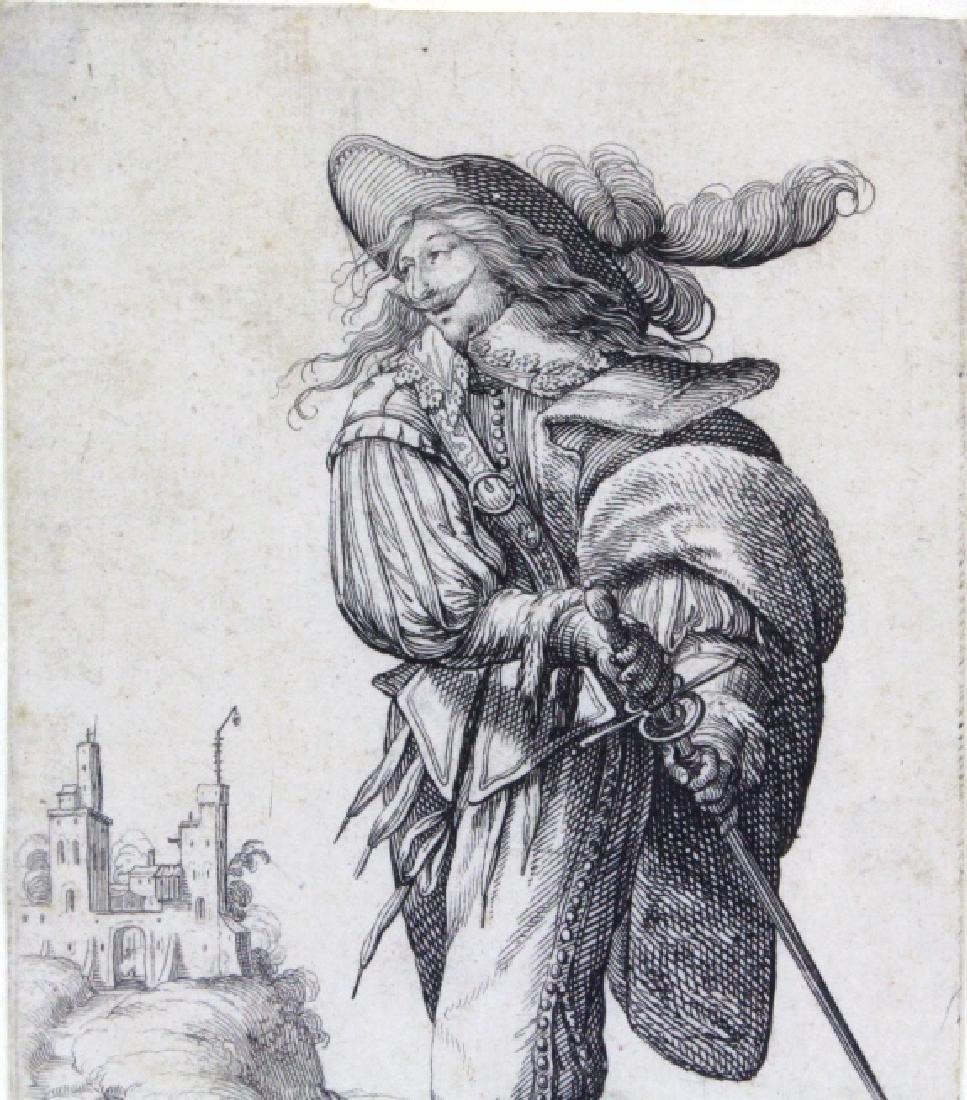 Abraham Bosse Swordsman Etching from BASS MUSEUM - 4