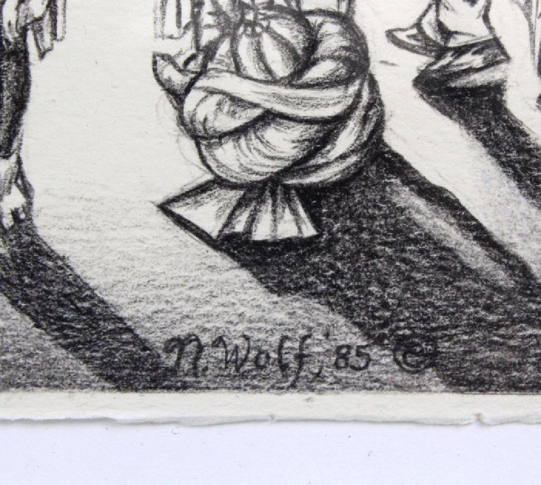 Nancy Wolf Signed Graphite Futuristic Art BASS MUSEUM - 3