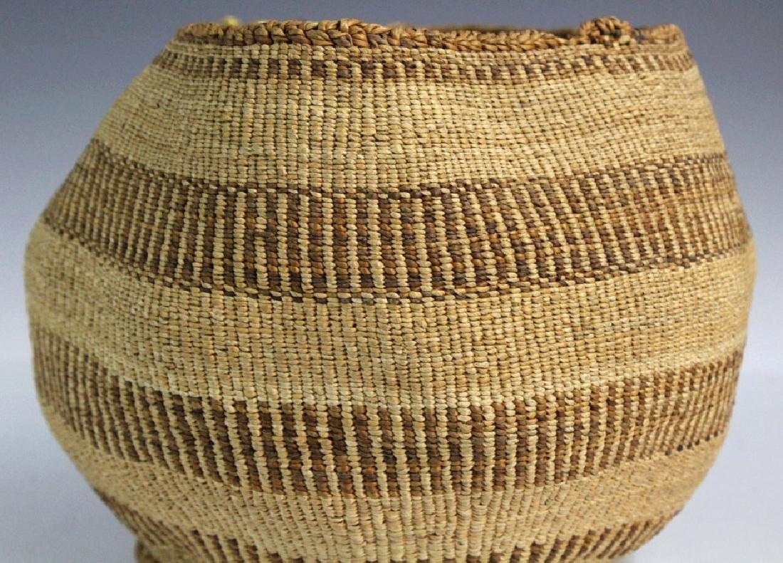2 Native American California Hupa Baskets - 10