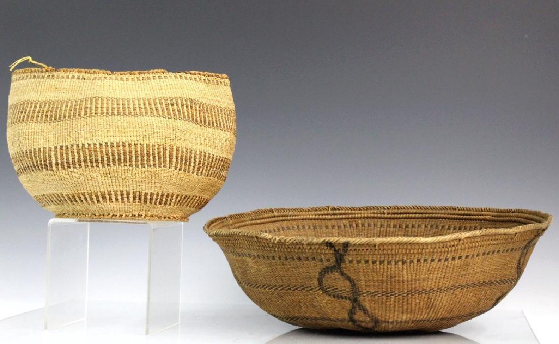 2 Native American California Hupa Baskets