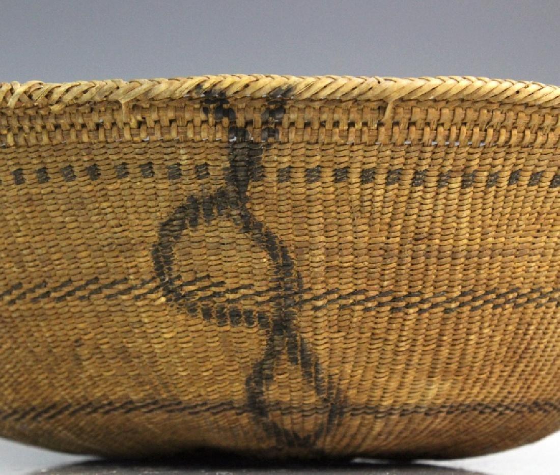 2 Native American California Hupa Baskets - 2