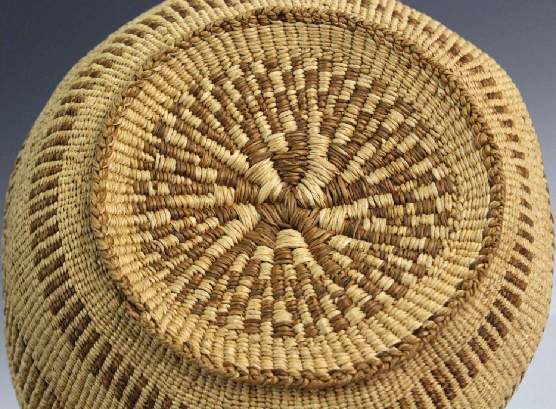 2 Native American California Hupa Baskets - 9