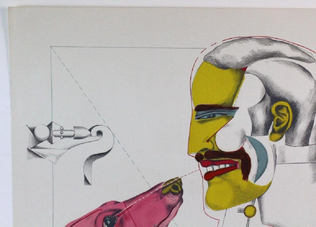 Richard Lindner Signed AP Man & Dog from BASS MUSEUM - 5