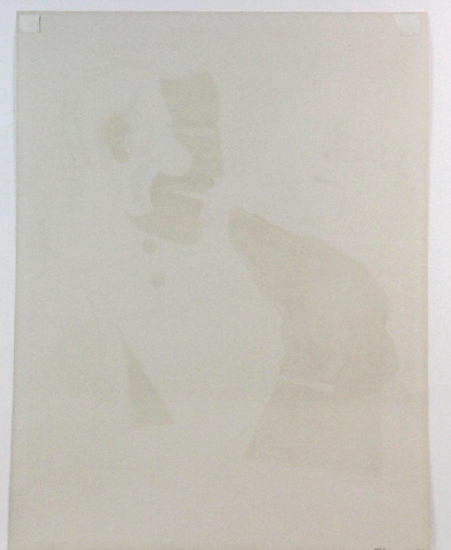 Richard Lindner Signed AP Man & Dog from BASS MUSEUM - 6