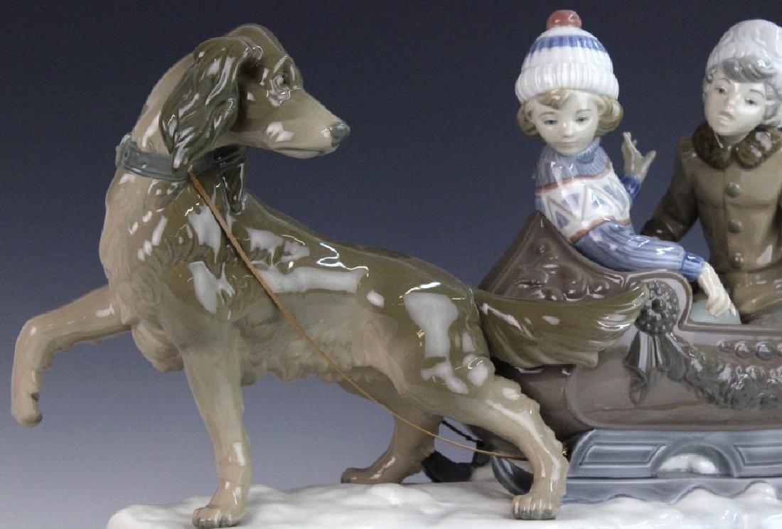 Retired LLADRO Dog Sled Sleigh Porcelain Figurine - 2