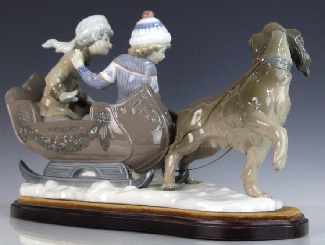 Retired LLADRO Dog Sled Sleigh Porcelain Figurine - 6