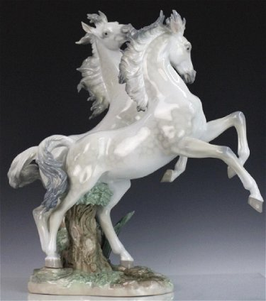 Lladro Free As The Wind L E Wild Horses Figurine Oct 18 2017 Hill Auction Gallery In Fl