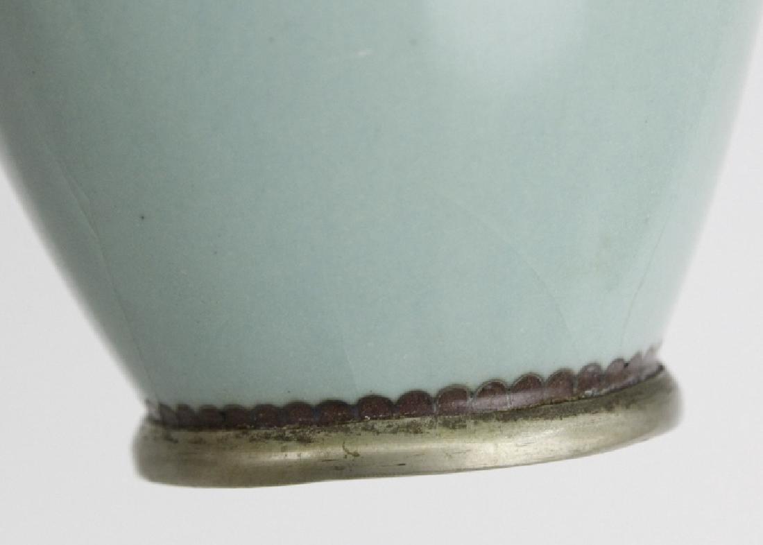 Cloisonne Enamel Plum Butterflys Moths Insect Vase - 6
