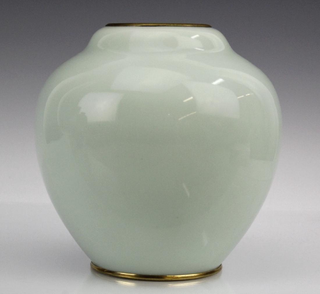 Japanese Cloisonne Enamel Koi Vase by Ando Jubei - 4