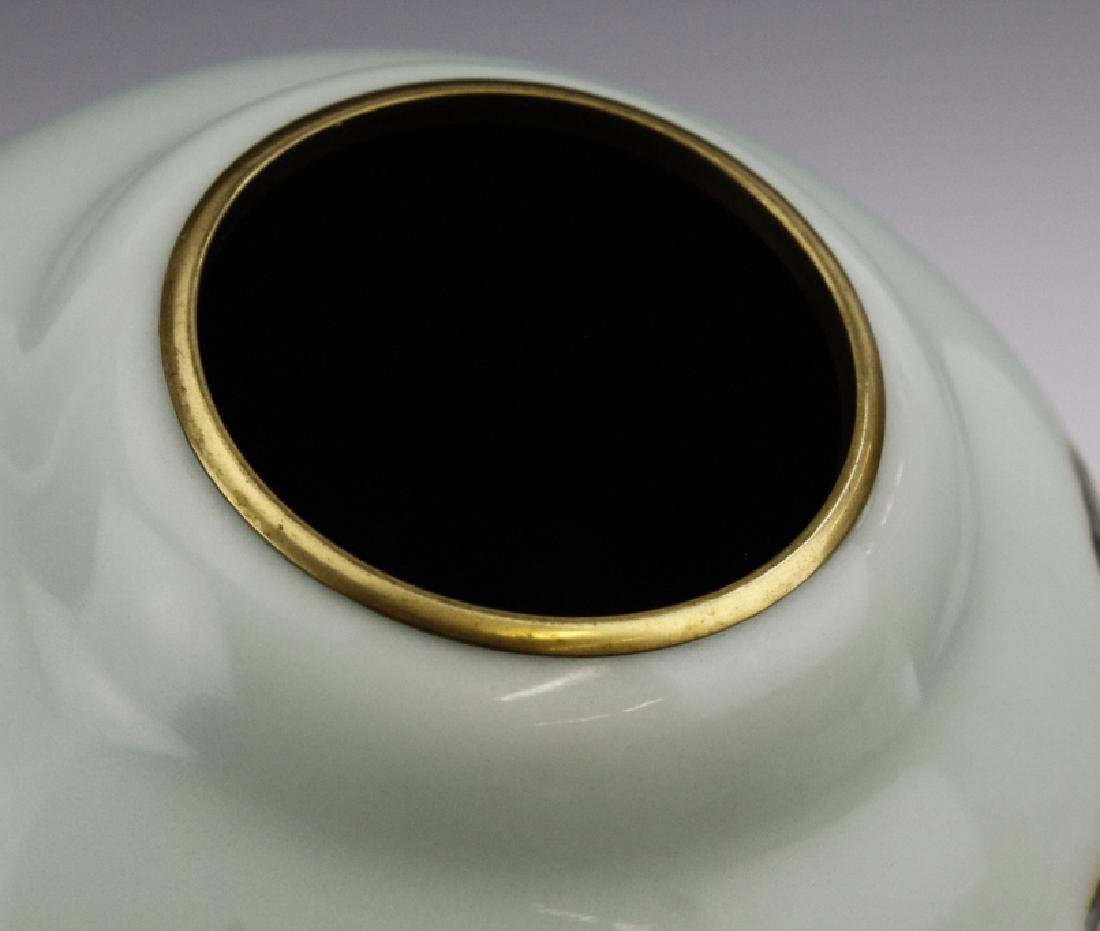 Japanese Cloisonne Enamel Koi Vase by Ando Jubei - 6