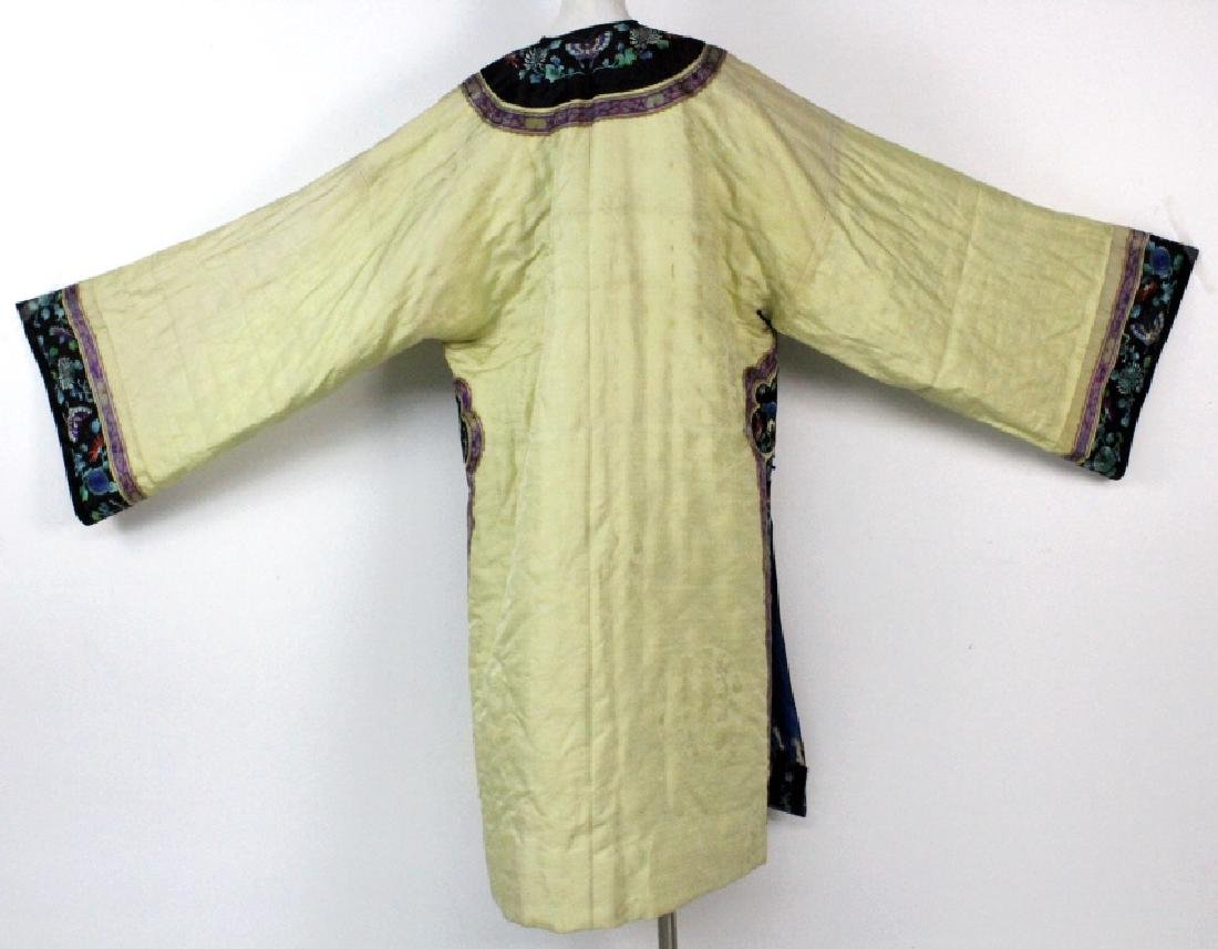 Chinese Insulated Yellow Silk Butterfly Robe - 6