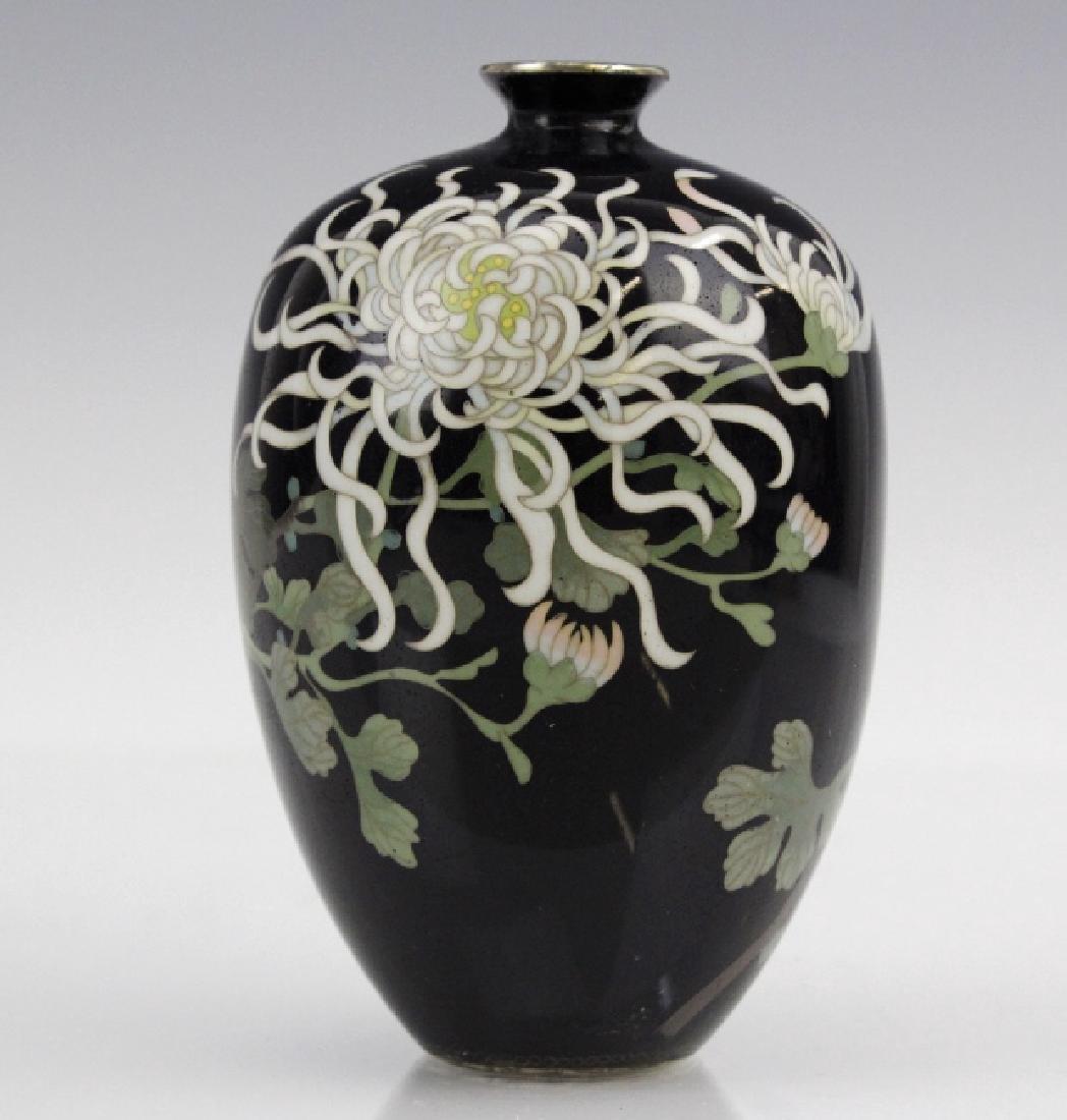 Japanese Cloisonne Enamel Vase Meiji Period