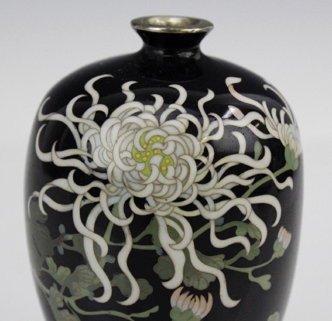 Japanese Cloisonne Enamel Vase Meiji Period - 2