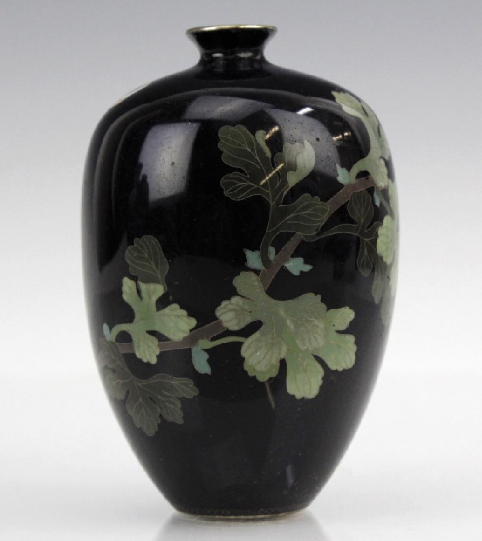 Japanese Cloisonne Enamel Vase Meiji Period - 3