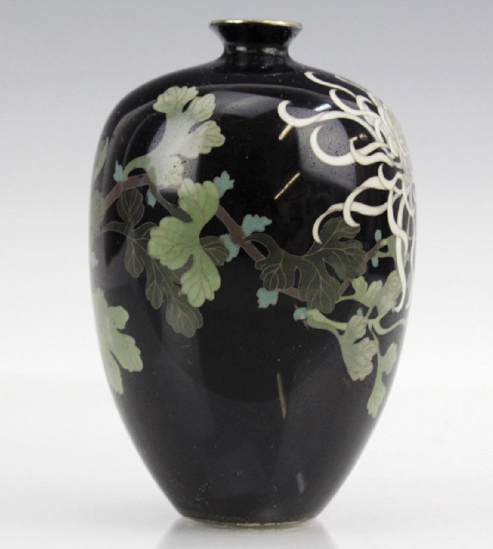 Japanese Cloisonne Enamel Vase Meiji Period - 4